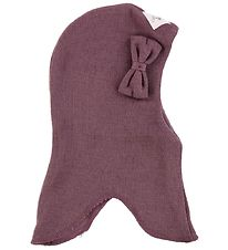 Racing Kids Balaclava - Wool/Cotton - Double Layer - Dusty Purpl