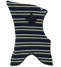 Racing Kids Balaclava - Wool/Cotton - Double Layer - Navy/Dark G