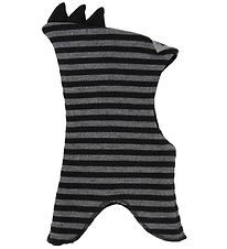 Racing Kids Balaclava - Wool/Cotton - Double Layer - Grey/Black