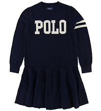 Polo Ralph Lauren Dress - Wool/Cotton - Navy w. White
