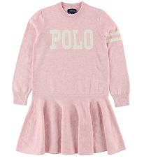 Polo Ralph Lauren Dress - Wool/Cotton - Rose Melange w. White
