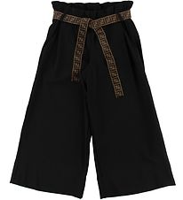 Fendi Trousers - 3/4 - Black w. Belt