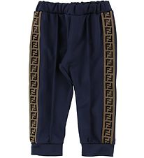 Fendi Track Pants  - Navy w. Stripe