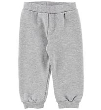 Fendi Sweatpants - Grey Melange w. Neon Pink