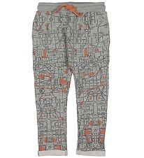 Small Rags Sweatpants - Grey w. pattern