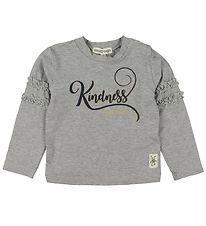 Small Rags Long Sleeve Top - Grey/Kindness Is Magic