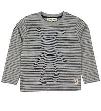 Small Rags Long Sleeve Top - Grey/Striped
