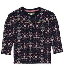 Small Rags Long Sleeve Top - Navy/Flowers