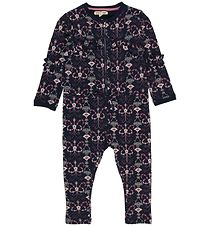 Small Rags Coverall - Navy/Flowers
