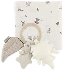 Cam Cam Giftbox - Rattle/Swaddle - 120x120 - Fawn