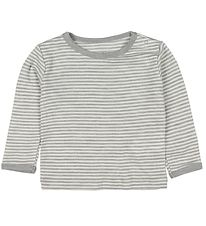 Fixoni Long Sleeve Top - Joy - Wool/Silk - Grey/Striped