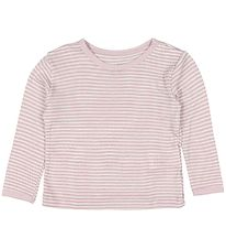 Fixoni Long Sleeve Top - Joy - Wool/Silk - Dusty Rose/Striped