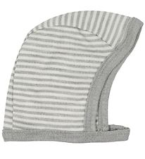 Fixoni Baby Hat- Joy - Wool/Silk - Grey/Striped