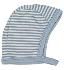 Fixoni Baby Hat - Joy - Wool/Silk - Dusty Blue/Striped