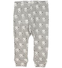 Fixoni Leggings - Joy- Wool/Silk - Grey w. Sheep