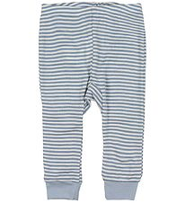 Fixoni Leggings - Joy - Wool/Silk - Dusty Blue/Striped