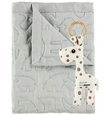 Done By Deer Giftset - Rattle/Blanket - 80x100 - Light Grey