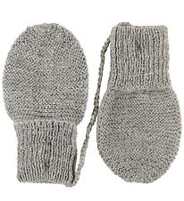Huttelihut Mittens - Alpaca Wool - Light Grey