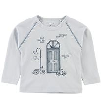 Fixoni Long Sleeve Top - Joy - Babyblue w. Cars