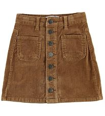 Hound Skirt - Corduroy - Brown w. Buttons