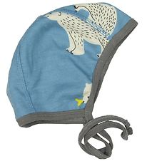 Småfolk Baby Hat - Wool/Cotton - Blue w. Polar Bears