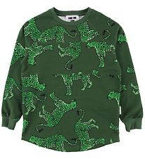 Sometime Soon Sweatshirt - Jodi - Green w. Leopard