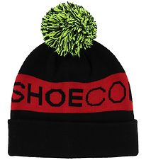 DC Beanie w. Pompon - Chester - Black/Red