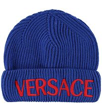 Versace Hat - Wool - Blue w. Logo