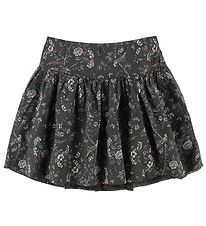 Wheat Skirt - Schastine - Dark Gray w. Flowers