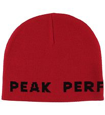 Peak Performance Hat - Knitted- Red