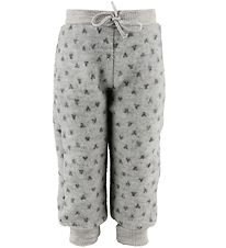 Joha Trousers - Wool - Grey w. Hearts