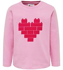 Lego Wear Long Sleeve Top - Thelma - Light Pink w. Heart