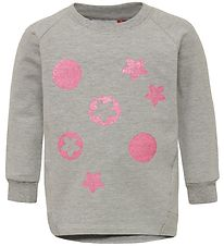 Lego Wear Sweatshirt - Tessie - Grey w. Pink Flowers