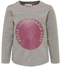 Lego Wear Long Sleeve Top - Thelma - Grey Melange w. Glitter