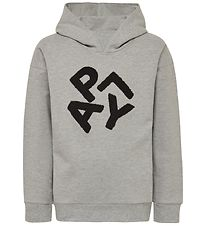 Lego Wear Hoodie - Simone - Grey Melange w. Text