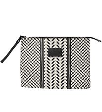 Lala Berlin Toiletry Bag - Pili - Kufiya Off-White/Black