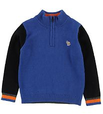 Paul Smith Junior Jumper - Cotton/Wool - Volte - Blue/Grey Melan
