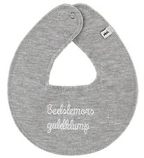 Pippi Teething Bib - Bedstemors Guldklump - Grey