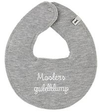 Pippi Teething Bib - Mosters Guldklump - Grey
