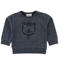 Fixoni Long Sleeve Top - Joy - Blue Melange w. Bear