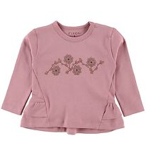 Fixoni Long Sleeve Top - Joy - Rose w. Flowers