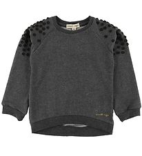 Small Rags Sweatshirt - Grey Melange w. Dots