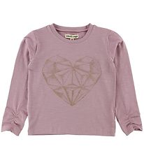 Small Rags Long Sleeve Top - Light Purple w. Heart