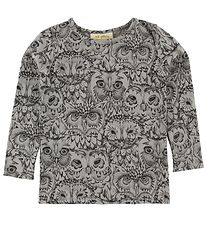 Soft Gallery Long Sleeve Top - Bella - Drizzle w. Owls