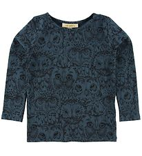 Soft Gallery Long Sleeve T-shirt - Bella - Orion Blue w. Owls