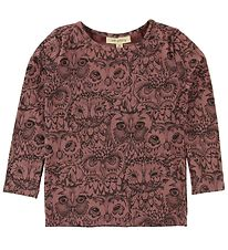 Soft Gallery Long Sleeve Top - Bella - Burlwood w. Owls