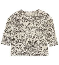 Soft Gallery Long Sleeve Top - Bella - Ivory w. Owls