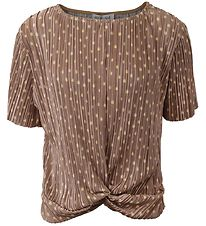 Hound T-shirt - Plisse - Light Brown/Dots