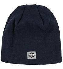 Mikk-Line Beanie - Wool/Acrylic - Double Layer - Navy