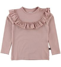 Little Wonders Blouse - Celine - Dusty Rose w. Ruffles